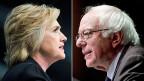 Plus Eins für Hillary Clinton: Ihr linker Herausforderer Bernie Sanders unterstützt sie nun gegen Donald Trump.