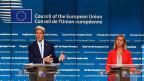 Besorgter US-Aussenminister Kerry und besorgte EU-Aussenbeauftragte Mogherini: Sie fürchten eine Erosion des Rechtsstaats.