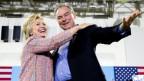 Hillary Clinton hat ihren Vize nominiert: Es ist Tim Kaine aus Virginia.