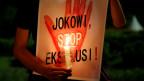 Protest gegen die Hinrichtung von Drogenhändlern vor dem Präsidentenpalast in Jakarta.