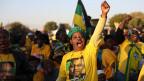Anhänger von Südafrikas Regierungspartei ANC in  Pretoria, Südafrika.