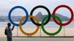 Die olympischen Ringe in Rio.
