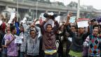 Proteste in der äthiopischen Hauptstadt gegen die ungerechte Verteilung von Geldern im Land, am 6. August 2016.
