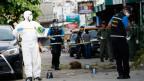 Polizeitechniker an einer der Explosionsstellen in Hua Hin.