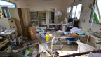 Ein zerbombtes Spital in Abs, Jemen, in welchem Ärzte ohne Grenzen operierten, am 16. August 2016.