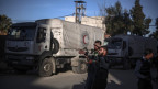 Dringend benötigte Hilfe: Ein Laster bringt Waren des Welternährungsprogramms in die syrische Provinz.