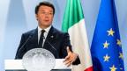 Sein Schicksal hängt von einem Referendum ab: der italienische Premierminister Matteo Renzi.