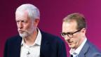Labour-Parteichef Jeremy Corbyn (links) und sein Herausforderer Owen Smith.