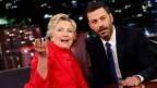 US-Präsidentschaftskandidatin Hillary Clinton in der Show von Jimmy Kimmel in Los Angeles.