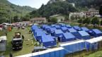 Zeltcamp zur Erstunterbringung von Menschen, die beim schweren Erdbeben obdachlos geworden sind.