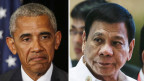Verstimmte Gesichter: Barack Obama (links) und Rodrigo Duterte (rechts) werden sich am ASEAN-Gipfel nicht treffen.