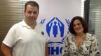 Preisträger und Preisträgerin: Konstantinos Mitragas vom «Hellenic Rescue Team» und Efi Latsoudi, die «Pipka Village» auf Lesbos zum Flüchtlingsdorf gemacht hat.