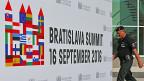 Die malerische slowakische Hauptstadt Bratislava gleicht zurzeit einer Festung.