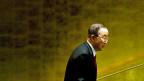 UNO-Generalsekretär Ban Ki Moon auf dem Weg, den ersten UNO-Migrationsgipfel zu eröffnen.