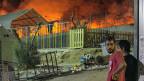 Nach dem Brand im grossen Flüchtlingscamp auf der griechischen Insel Lesbos ist die Lage auf der chaotisch.