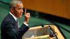 Schon lange hat kein US-Präsident mehr derart auf Multilateralimus und damit auf die UNO gesetzt wie Barack Obama in seinen acht Amtsjahren. Bild: US-Präsident Barack Obama vor der UNO-Generalversammlung.