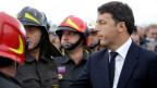 Italiens Premier Matteo Renzi beim Besuch des Erdbebengebiets in Amatrice.