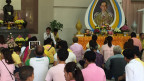 Mahnwache für den König Bhumibol Adulyadej.