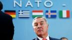 Montenegros Premierminister Milo Djukanovic am NATO-Hauptquartier in Büssel am 19. Mai 2016.
