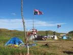 Ein Protestcamp der Sioux