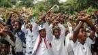 Proteste gegen die Regierung in in Bishoftu, Äthiopien.
