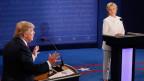 Donald Trump (links) und Hillary Clinton während der TV-Debatte am 19. Oktober 2016.