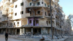 Zerbombtes Haus in Aleppo.