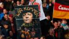 Proteste gegen Asylanten und Migranten in Dresden.