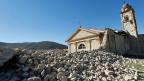 Die Kirche San Antonio von Norcia nach dem Erdbeben vom Sonntag.