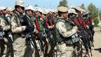 «Wir sind Peshmerga. Wenn wir uns gleich verhalten, wie die Terroristen, gibt es keinen Unterschied mehr», sagt einer aus der Truppe der Peshmergas. Symbolbild: Militärisches Training für die kurdischen Peshmerga-Truppen in Irak.