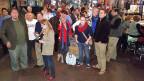 Betretene Mienen statt lachender Gesichter: Demokraten in der Wahlnacht in Bowling Green in Ohio.