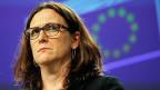 Europa ist viel mehr auf sich gestellt als je zuvor in der Nachkriegszeit. Das bedeutet zum Beispiel, dass das   geplante Freihandelsabkommen, das aktuell grösste Projekt zwischen der EU und den USA, mit Donald Trump wohl nicht zustande kommen wird. Bild: die EU-Handelskommissarin Cecilia Malmström, zuständig für TTIP.