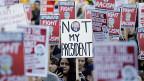 In zahlreichen US-Städten wurde und wird gegen den neuen US-Präsidenten demonstriert.
