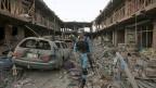 Kabul, Afghanistan: Nach einem Selbstmordanschlag im August 2015.