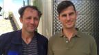 Die Winzer Daniel Pazmanyi (links) und Peter Lakatos vom Weingut Haraszty.