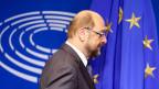 Martin Schulz gibt am 24. November 2016 seinen Rücktritt als EU-Parlamentspräsident bekannt.