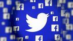Die Logos von Facebook und Twitter: Falschmeldungen die auf den Sozialen Medien verbreitet werden erhalten mehr Aufmerksamkeit als die herkömmlichen Medien.