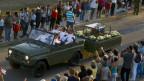 Die sterblichen Überreste von Fidel Castro werden durch ganz Kuba gefahren.