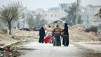 Ganze Teile der ehemals stolzen Handelsmetropole Aleppo liegen inzwischen in Trümmern, hunderttausende Manschen sind aus der Stadt geflüchtet.