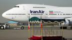 Eine Boeing 747SP der «Iran Air» steht im September 2011 auf dem Flughafen von Teheran.