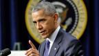 Der amtierende US-Präsident Barack Obama im Weissen Haus. In einem Radiointerview sagt er, dass die russischen Hackerangriffe auf die USA vergolten werden sollen.