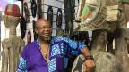 Mohammed Jimoh führt den Ghana-Pavillon in der Afrika-Halle in Yiwu, einer Millionenstadt an der chinesischen Ostküste.