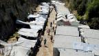 Blick auf ein Flüchtlingscamp auf der griechischen Insel Chios.