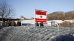 Grenzzaun zwischen Österreich und Slowenien bei Spielfeld.