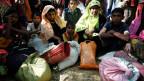 Rohingya-Flüchtlinge in einem Flüchtlingslager in Cox's Bazar, Bangladesh.