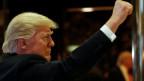 Donald Trump: «Wir werden Amerika für alle Amerikaner gross machen, für jedermann».