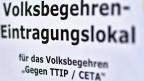 «Volksbegehren-Eintragungslokal»: Wenn sich in Österreich diese Woche Hunderttausende gegen CETA und TTIP wehren, wird das nicht nur das Votum der österreichischen Abgeordneten beeinflussen, sondern ebenfalls die auch auf EU-Ebene lavierenden Sozialdemokraten.