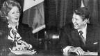 «a special relationship» – zwischen Grossbritannien und den USA hat eine lange Geschichte: Die britische Premierministerin Margaret Thatcher und US-Präsident Ronald Reagan bei einem Treffen am 24. Oktober 1985.