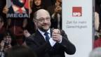 Martin Schulz hält seine erste Grundsatzrede vor Anhängern im Berliner Willy-Brandt-Haus.