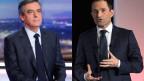 Der Sozialist Benoît Hamon (rechts) und der Republikaner François Fillon sind die Kandidaten für die französische Präsidentschaft.
